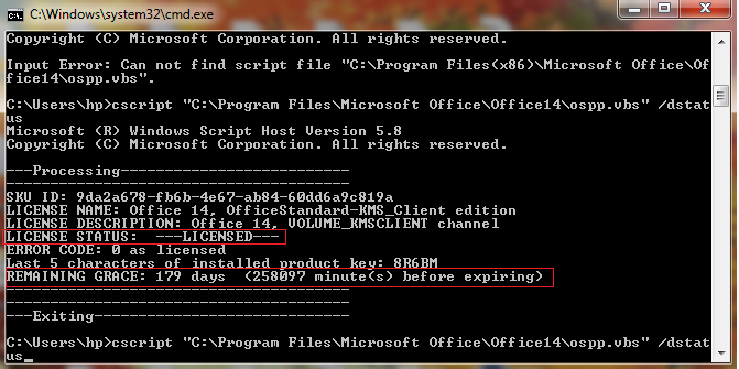 Check the Microsoft-Office License Expiration Date