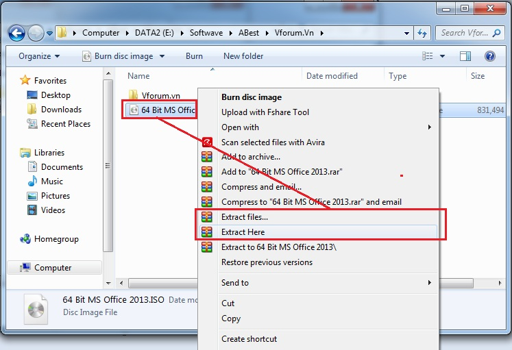 How to open iso file windows 10 8 7