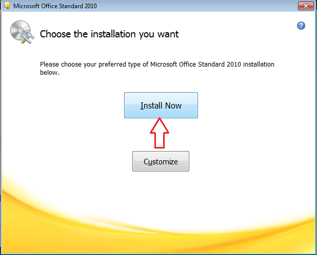 Install MS Office 2010