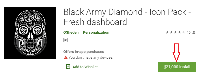 Giveaway Android App Black Army Diamond