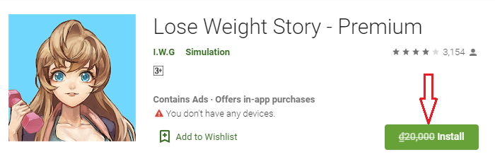 Giveaway Android App Lose Weight Story
