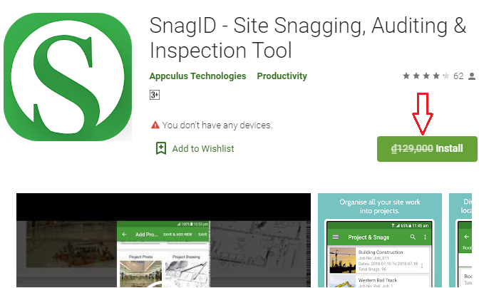 Giveaway Android App SnagID - Site Snagging, Auditing & Inspection Tool