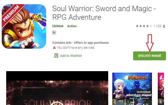Giveaway Android App Soul Warrior - Sword and Magic - RPG Adventure