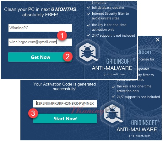 Giveaway GridinSoft Anti-Malware Activation Key For 6 Months