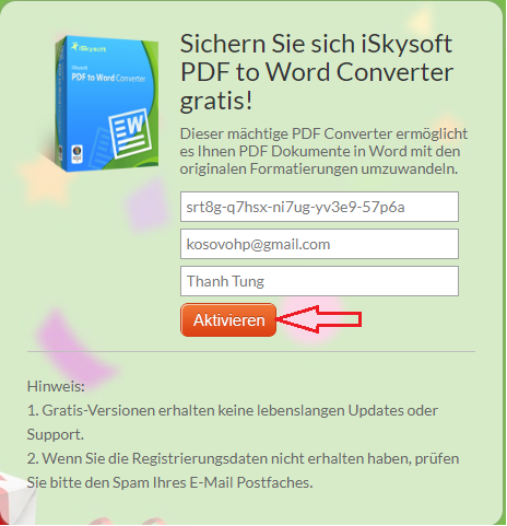 Giveaway iSkysoft - PDF to Word Converter